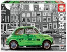 Educa - Car in Amsterdam black & white 1000 T.