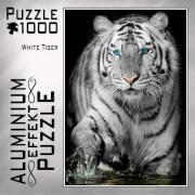 Aluminium Effekt Puzzle 1000 Teile Motiv: White Tiger