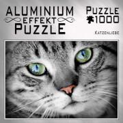 Aluminium Effekt Puzzle 1000 Teile Motiv: Katzenliebe