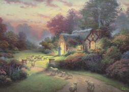 Schmidt Spiele Puzzle Thomas Kinkade, Spirit, Cottage des guten Hirten, 1000 Teile