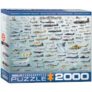 Eurographics Puzzle Militärflugzeuge