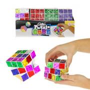 TOITOYS Glitzer-Zauberwürfel (Puzzle), 6-fach sortiert