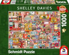 Schmidt Spiele 59697 Puzzle 1000 S.Davies Vintage Handarbeitszeug