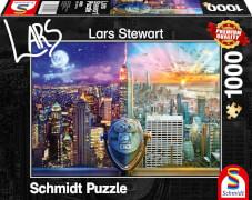 Schmidt Spiele 59905 Puzzle 1000 L.Stewart New York, Night and Day
