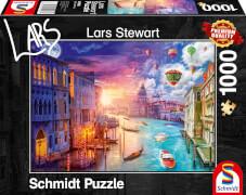 Schmidt Spiele 59906 Puzzle 1000 L.Stewart Venedig, Night and Day