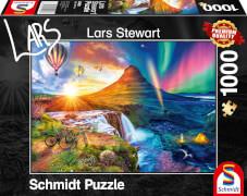 Schmidt Spiele 59908 Puzzle 1000 L.Stewart Island, Night and Day