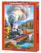 Glow2B Castorland Train Crossing, Puzzle 500 Teile