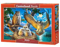 Glow2B Castorland Owl Family, Puzzle 500 Teile