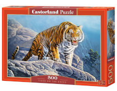 Glow2B Castorland Tiger on the Rocks, Puzzle 500 Teile