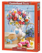 Glow2B Castorland Spring in Flower Pot, Puzzle 500 Teile