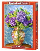 Glow2B Castorland Bouquet of Hydrangeas, Puzzle 1000 Teile
