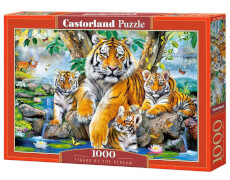 Glow2B Castorland Tigers by the Stream, Puzzle 1000 Teile