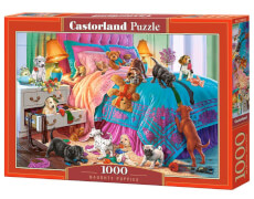 Glow2B Castorland Naughty Puppies, Puzzle 1000 Teile