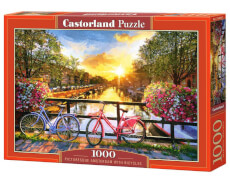 Glow2B Castorland Picturesque Amsterdam with Bicycles, Puzzle 1000 Teile