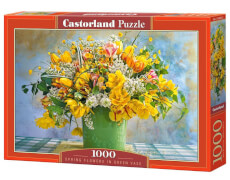 Glow2B Castorland Spring Flowers in Green Vase, Puzzle 1000 Teile