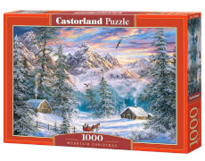 Glow2B Castorland Mountain Christmas, Puzzle 1000 Teile