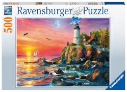 Ravensburger 16581 Puzzle Leuchtturm am Abend