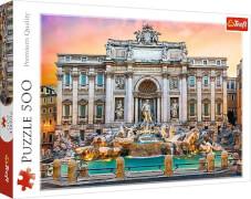 Puzzle 500 Teile Fontanna de Trevi, Rom