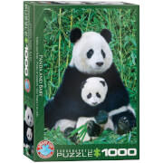 EuroGraphics Puzzle Panda und Baby 1000 Teile