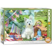 EuroGraphics Puzzle Scottie Hunde Picknick 500 Teile