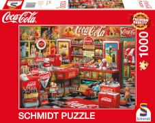 Schmidt Spiele 59915 Puzzle Coca Cola - Nostalgie-Shop 1000 Teile