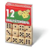Ravensburger 27097 12 Qualitätswürfel in Klarsichtbox