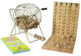 Bingo mit Metallkorb inkl. 600 Tickets (#1-90)