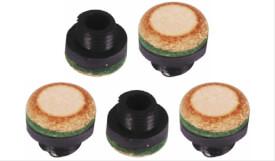 carromco Schraubleder 12 mm M8 Gewinde 5er Pack