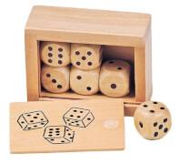 GoKi Würfelkasten mit 6 Holzwürfeln