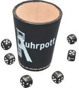 Teepe Sportverlag Ruhrpott Würfelbecher mit 6 Würfeln