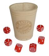 AMIGO 31340 FC Bayern Würfelbecher mit 6 Würfeln