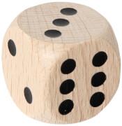 Augenwürfel 30 mm, Holz, natur