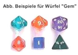 AMIGO 00015 Würfel Glitter W 4 Fix 50