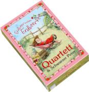 Quartett-Kartenspiel. Erdbeerinchen