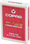 ASS COPAG® 100% Plastik Poker Jumbo Index rot.Kartenspiel