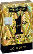 Winning Moves Number 1 Spielkarten Gold Plastc Cards