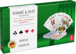 ASS Spielkartenkassette - französisches Bild, in Stülpschachtel. Kartenspiel