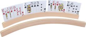Halter für Spielkarten aus Holz, gebogen, ca. 50 cm