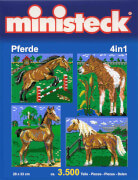 Ministeck Pferde 4-in-1 mit Hintergrund