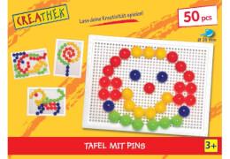 Creathek Koffer mit 50 Pins, Durchmesser 20 mm, ca. 24,5x18,5x5,3 cm, ab 3 Jahren
