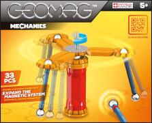 Geomag Mechanics - Magnet-Konstruktions-Set, 33-teilig, Kunststoff/Metall