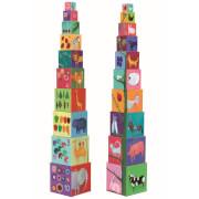 Stapel Spielzeug: 10 nature and animal blocks