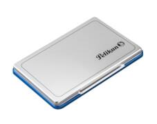 Stempelkissen 2 blau Metallic-Gehäuse 7x11 cm