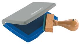 Stempelkissen blau 3 E Kunststoff-Gehäuse 5x7cm i.d.Fsc