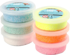 Foam Clay® Glitter-Set 6 x 14 Gramm