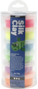 Seidenknete Neon-Set, Silk Clay® 6 Dosen je 14g