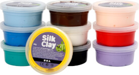 Silk Clay® Gummischleim Basic-Set 10 x 40 Gramm