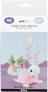 Bastelset Tinky die Schildkröte Modellieren mit Foam Clay® und Silk Clay®
