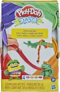 Hasbro E69675L0 Play-Doh Elastix-Knete, 4er Pack, sortiert