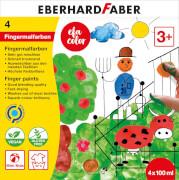 Fingerfarbe 100ml 4er Schacht